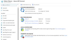Azure Active Directory mit Single-Sign On mit Passwort Hash Synchronisierung